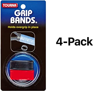 Unique Silicone Grip Bands For Tennis Racquet To Hold Overgrip (4-Pack)