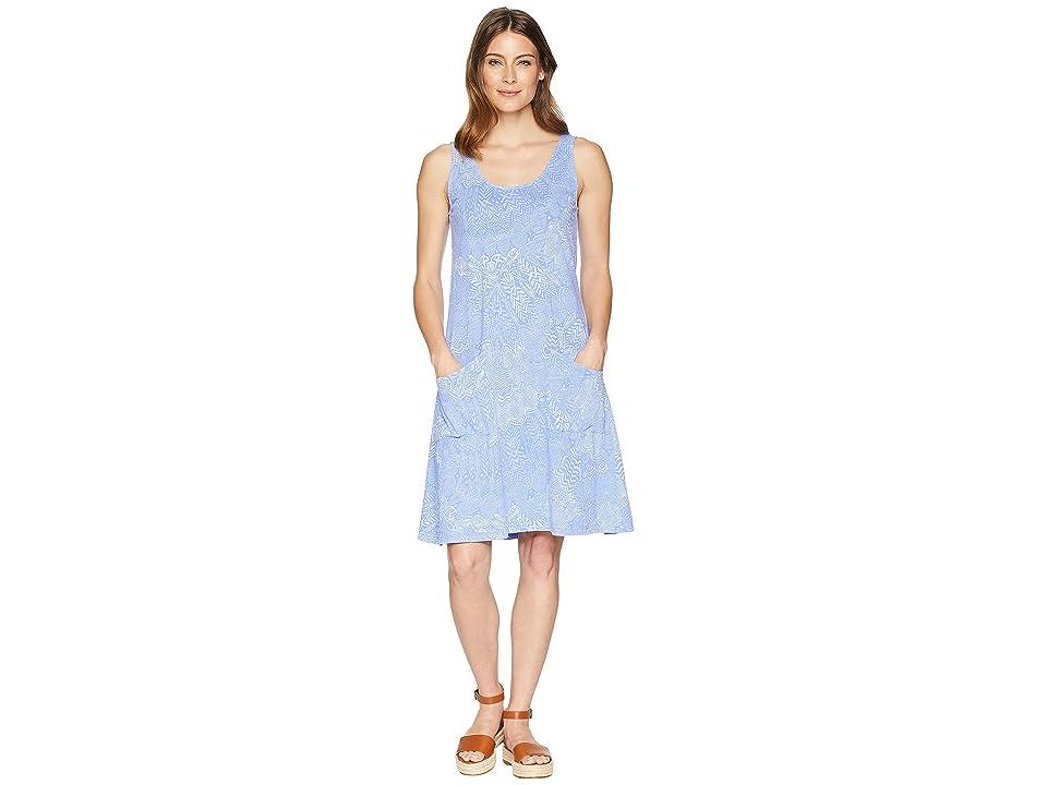 Fresh Produce White Tides Drape Dress (Periwinkle) Women