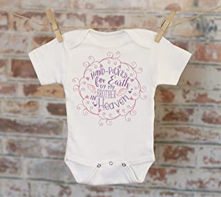 Handpicked for Earth By My Brother In Heaven Onesie® in Purple 7321d73530cc