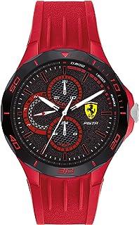 Scuderia Ferrari FERRARI MEN'S BLACK DIAL RED SILICONE WATCH - 830723