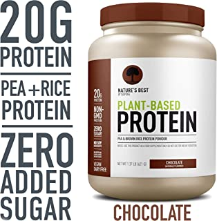 Nature's Best Plant Based Vegan Protein Powder by Isopure - Organic Keto Friendly, Low Carb, Gluten Free, 20g Protein, 0g Sugar, Chocolate, 20 Servings, 21.92 Oz,1.37 Pound