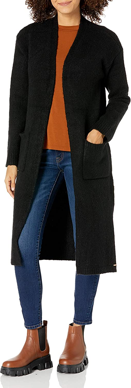 Volcom Women's Lil Cardi Duster Length Cardigan Sweater