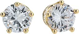 Betsey Johnson - Blue by Betsey Johnson Cubic Zirconia Stone Studs with Crown Base and Accents Earrings