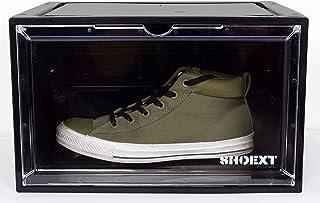 SHOEXT Magnetic Side Open Transparent Plastic Storage Shoe Box Sneaker Storage Box Display Box Shoe Container Clear Closet...