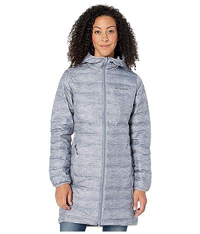 Columbia Lake 22tm Down Long Hooded Jacket (Tradewinds Grey/Heather Grey) Women