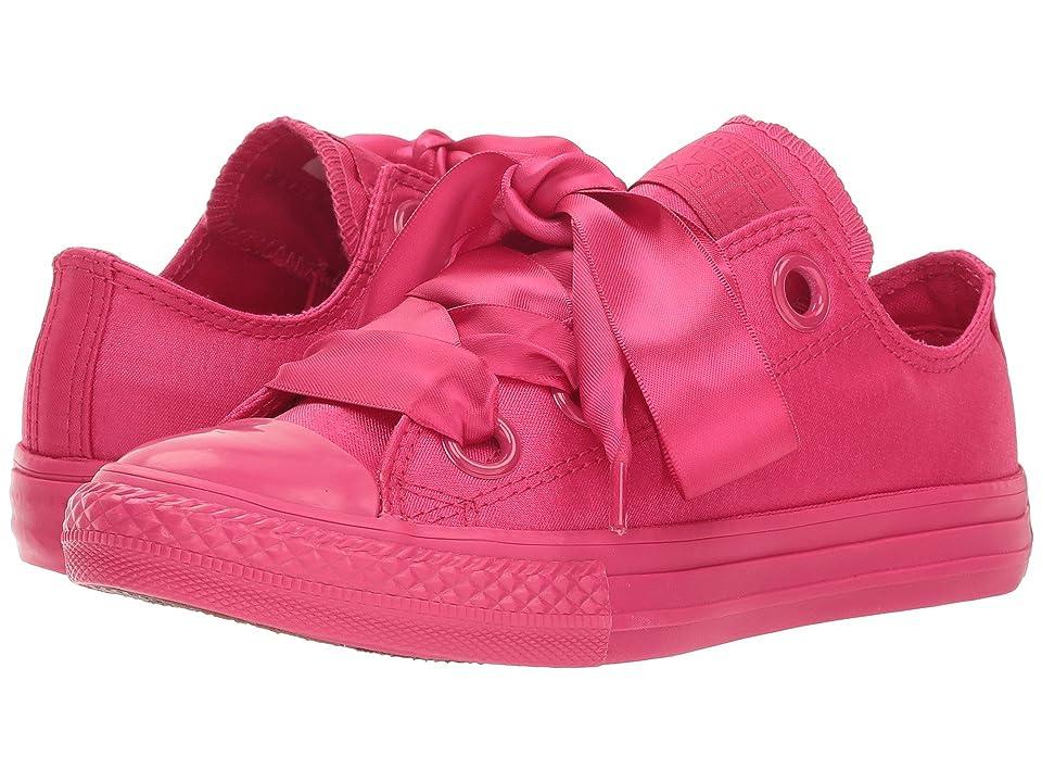 Converse Kids Chuck Taylor(r) All Star(r) Star Big Eyelets Ox (Little Kid/Big Kid) (Pink Pop/Pink Pop/Pink Pop) Girls Shoes