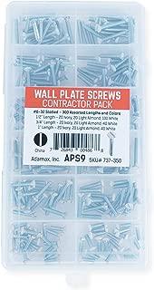 Adamax APS-9 6/32-Inch Slotted Wall Plate Screws
