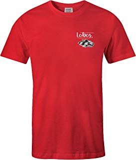 NCAA New Mexico Lobos Adult NCAA Sketchbook Comfort Color Short sleeve T-Shirt, Large,Red