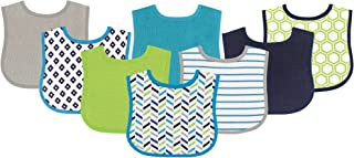 Luvable Friends Unisex Baby Cotton Terry Bibs, Geometric...