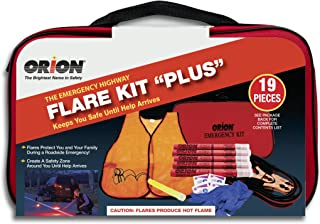 Includes First Aid Products Orion Roadside Car Emergency Safety Kit From Jumper Cables to Emergency Blankets Signaling 46 Piece Set Survival Products /& Personal Accessories Emergency Lighting