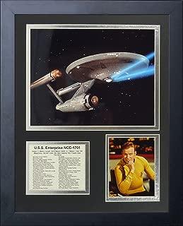 Legends Never Die Star Trek USS Enterprise Framed Photo Collage, 11 by 14-Inch