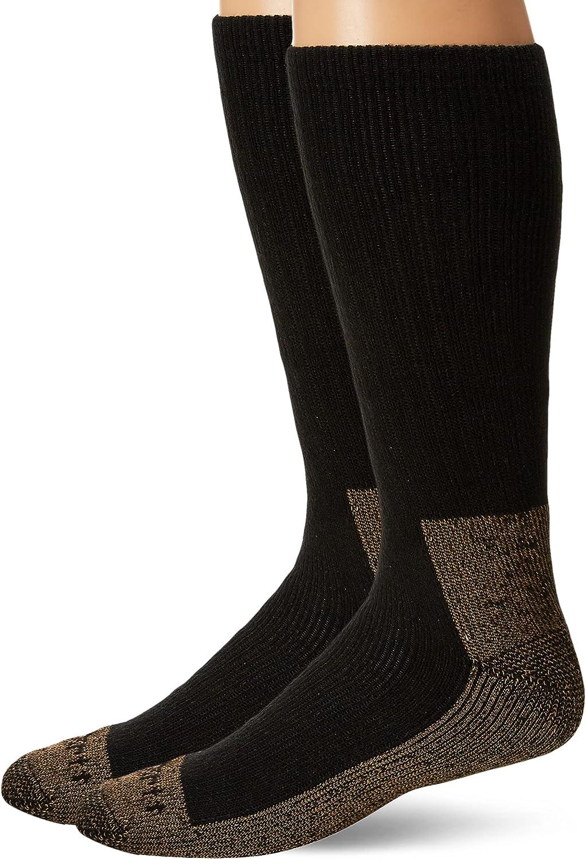Carhartt Men's Full Cushion Steel Toe Synthetic Work Boot Socks 2 Pair Pack