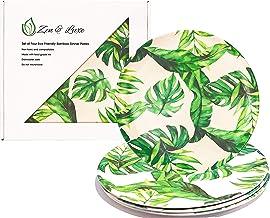 "Bamboo Reusable Plates   10"" Bamboo Fiber Dinner Outdoor Plates (4 pack)   Eco Friendly   Bamboo Plate Set   Dishwasher Sa..."