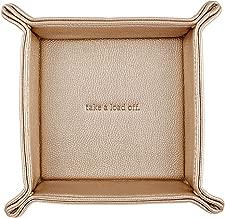 Santa Barbara Design Studio, Hold Everything Metallic Faux Leather Catchall Tray, 6.5