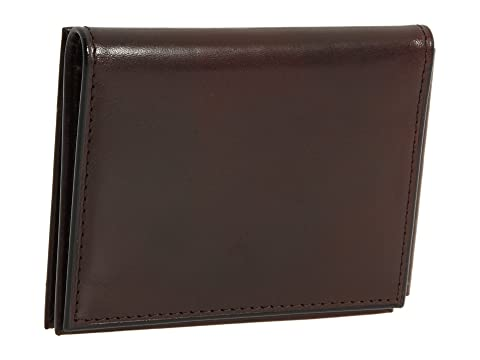 Bosca Old Leather Collection - Money Clip w/ Pocket Dark Brown Leather New Arrival For Sale oY1JpZ