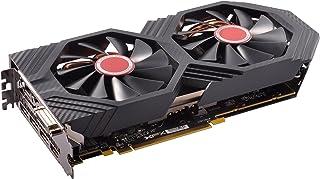XFX AMD Radeon RX RX-580P4DFD6 4GB Triple X Edition - Tarjeta gráfica, OC+ 1386Mhz DDR5 W/Backplate 3xDP HDMI DVI