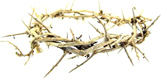 Religious Hand Made 6 Inch Crown Thorns Easter Lent Cross Accent