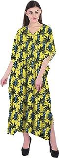 RADANYA Tropical Cotton Kaftan Swimwear Swimsuit Beachwear Bikini Coverup Caftan Dress