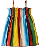 Dolce & Gabbana Kids - Painterly Striped Poplin Dress (Infant)