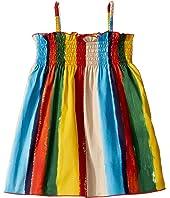 Dolce & Gabbana Kids - Painterly Striped Poplin Dress (Infant)