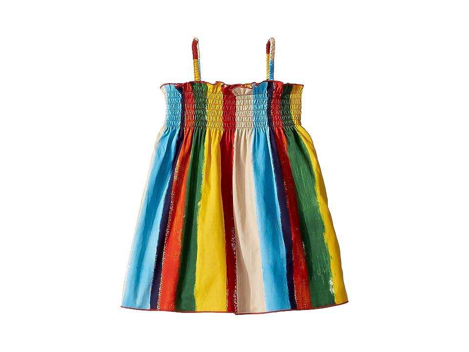 Dolce & Gabbana Kids Painterly Striped Poplin Dress (Infant) (Multi Stripe) Girl