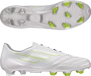 adidas F50 Adizero (Leather) TRX FG Soccer Cleats (Running White/Running White/Solar Slime)