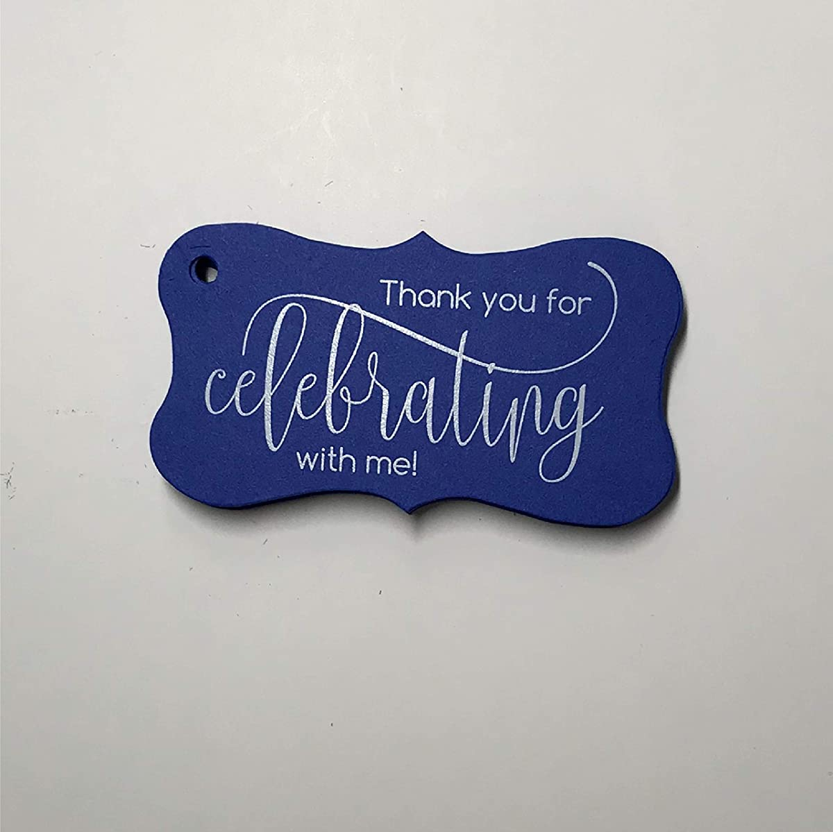 Thank you for Celebrating with me Tags, Birthday Favor Tags, Graduation Favor Tags (FR-66-BL)