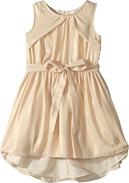 Us Angels - Sleeveless Folded Bodice Foiled Chiffon Dress (Toddler/Little Kids)