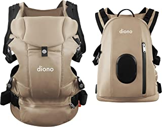 Diono Carus Complete 4-in-1 Child & Baby Carrying System with Detachable Backpack, Sand