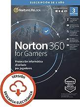 Norton 360 for Gamers 2021   Antivirus software para 3 Dispositivos   1 año, PC/Mac/tablet/smartphone   Código de activaci...