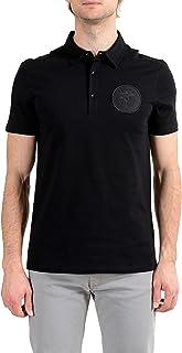 Collection Men's Black Logo Short Sleeve Polo T-Shirt Sz US L IT 52