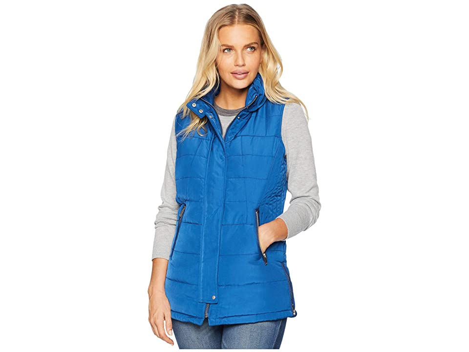 Tribal Puffer Vest w/ Zipper Detail (Marine) Women