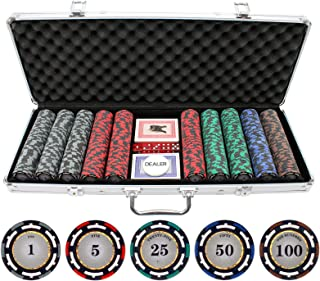 JP Commerce 500 Piece Z-Pro Clay Poker Chips