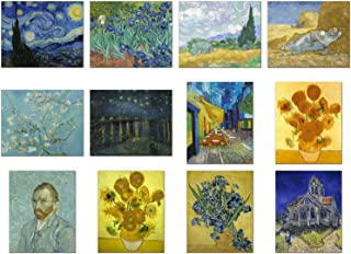 Wish Pub - Set of 12 Unframed Fine Art Prints of Vincent van Gogh Paintings, Including Starry Night, 8x10 Inch