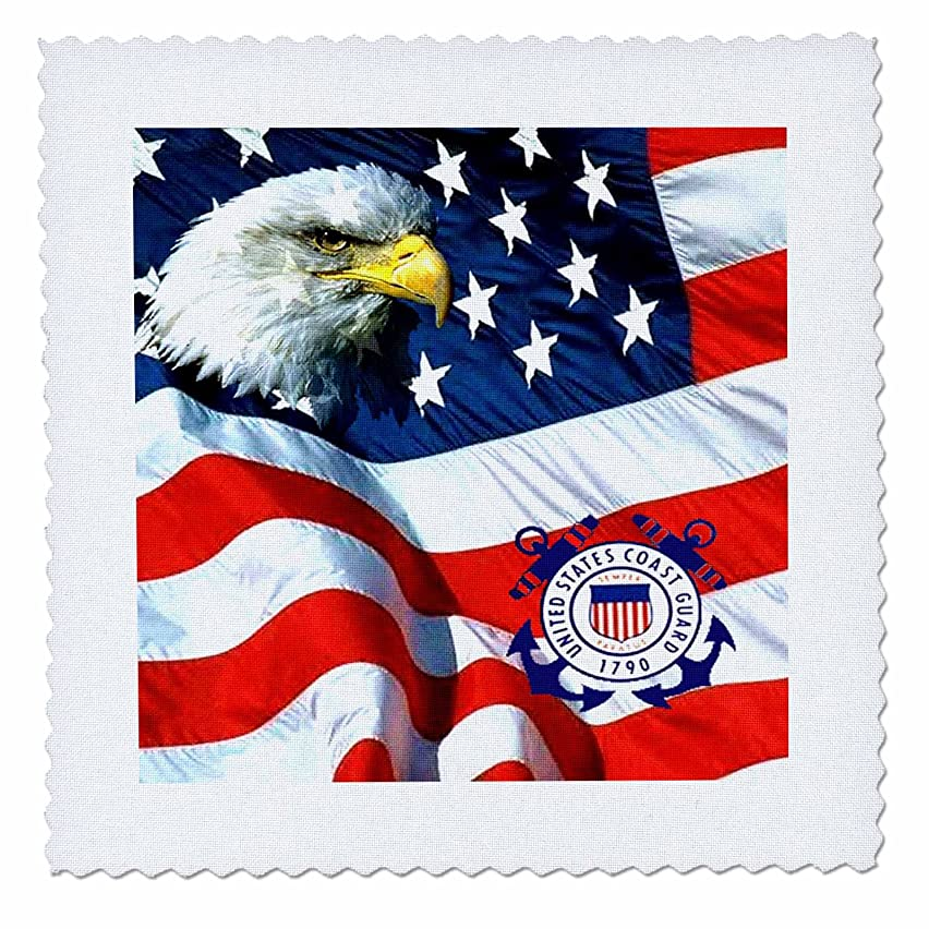 3dRose qs_982_6 US Coast Guard Quilt Square, 16 by 16-Inch