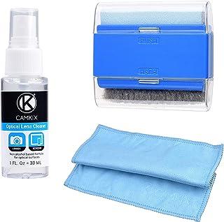 CAMKIX Kit de Limpieza de Pantallas de Laptop y Computadora Incluye 1x Paño de Doble Faz, 1x Cepillo de Doble Función, 1x Rociador de Limpieza de 30ml - para Teléfonos Inteligentes, Pantallas LCD