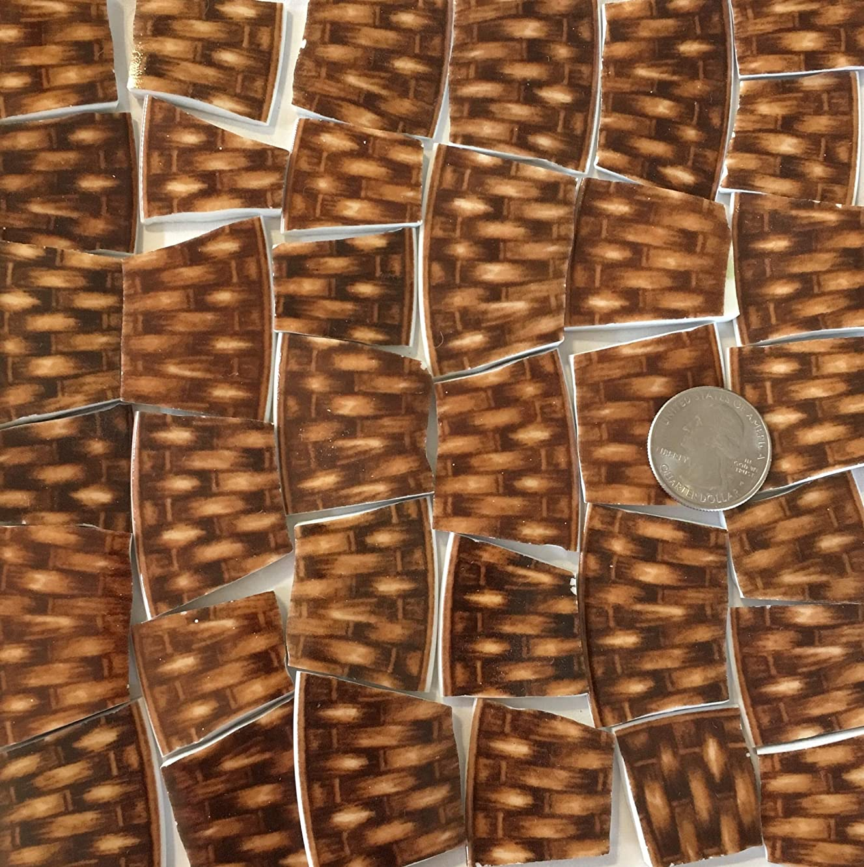 Mosaic Art & Crafts Supply ~ Brown Basket Weave Tiles (B320)