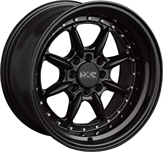 XXR 002. Black Wheel with Painted (15 x 8. inches /4 x 100 mm, 0 mm Offset)