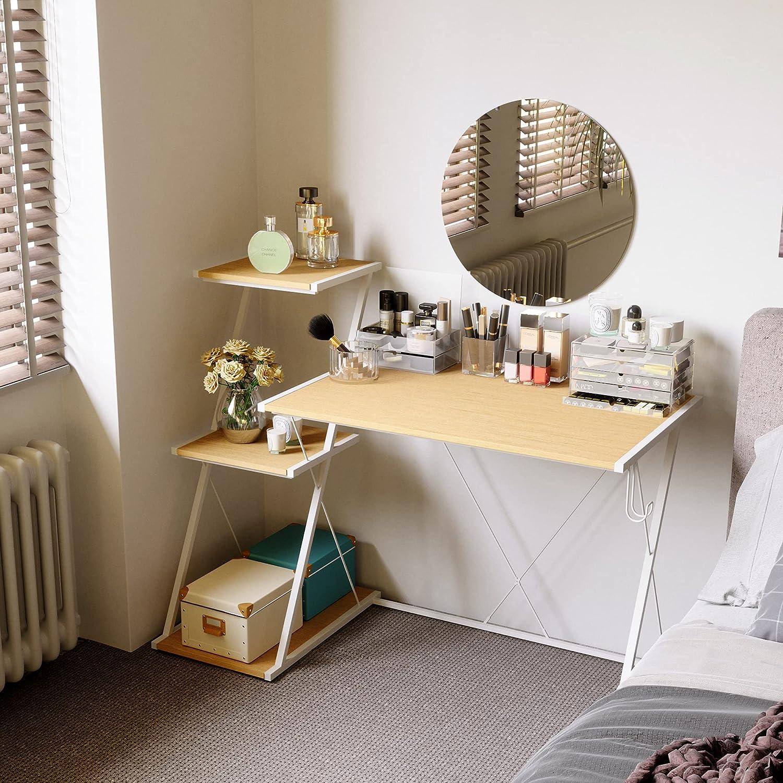Bestier Makeup Vanity Desk with 3 Tier Shelf & Hook 51.5