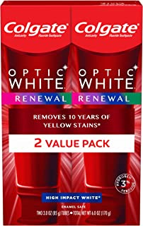 Colgate Optic White Renewal Enamel Strength Teeth Whitening Toothpaste