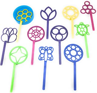 Bubble Wand Assortment Fun Bubble outdoors activity party favors Set of 11 Assorted Shapes and Colors Includes a Bubble Tray   Bubble wand set