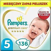 Pampers Premium Care, Rozmiar 5, 136 Pieluszki, Najdelikatniejszy Komfort I Najlepsza Ochrona Skóry Oferowane Przez...