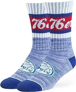 OTS NBA Philadelphia 76ers Women's Jensen Sport Sock, Team Color, Medium