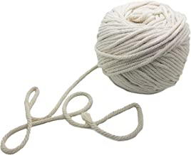 500 Foot Natural Cotton Macrame Rope - 1/8 Inch or 4mm Diameter Knitting Cord