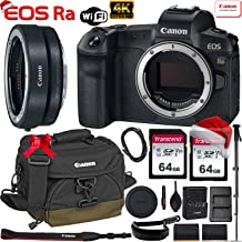 $2599 » Canon EOS Ra Mirrorless Digital Camera 30.3MP Full-Frame (Body Only) with Canon EF-EOS R Mount Adapter + 2 x 64GB Memory Cards, Canon 100EG Case, Canon Wrist Strap, Monopod and More