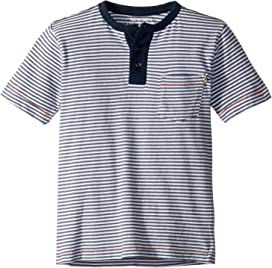 ad8008cf74 Lacoste Kids Summer Lover Striped Tee Shirt (Toddler/Little Kids/Big ...