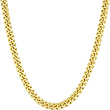 Lifetime Jewelry Gold Chain for Men and Women [ 4.3mm Miami Cuban Link Chain ] 20X More Real 24k Plating Than Other Necklaces - Durable Curb Link with Lifetime Replacement Guarantee 16-30 inches