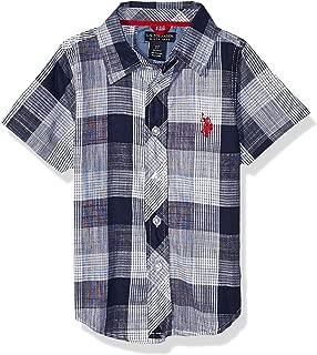 Boys' Short Sleeve Classic Plaid Woven Shirt