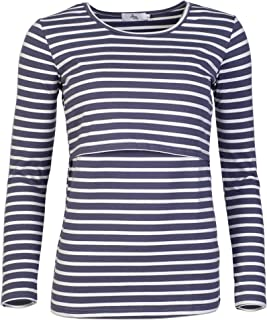 Elma & Me Striped Maternity Nursing top, Long Sleeve