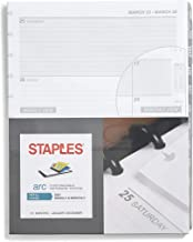 Staples 28104-21 2021 8.5-Inch x 11-Inch Weekly Planner Refill, Arc System